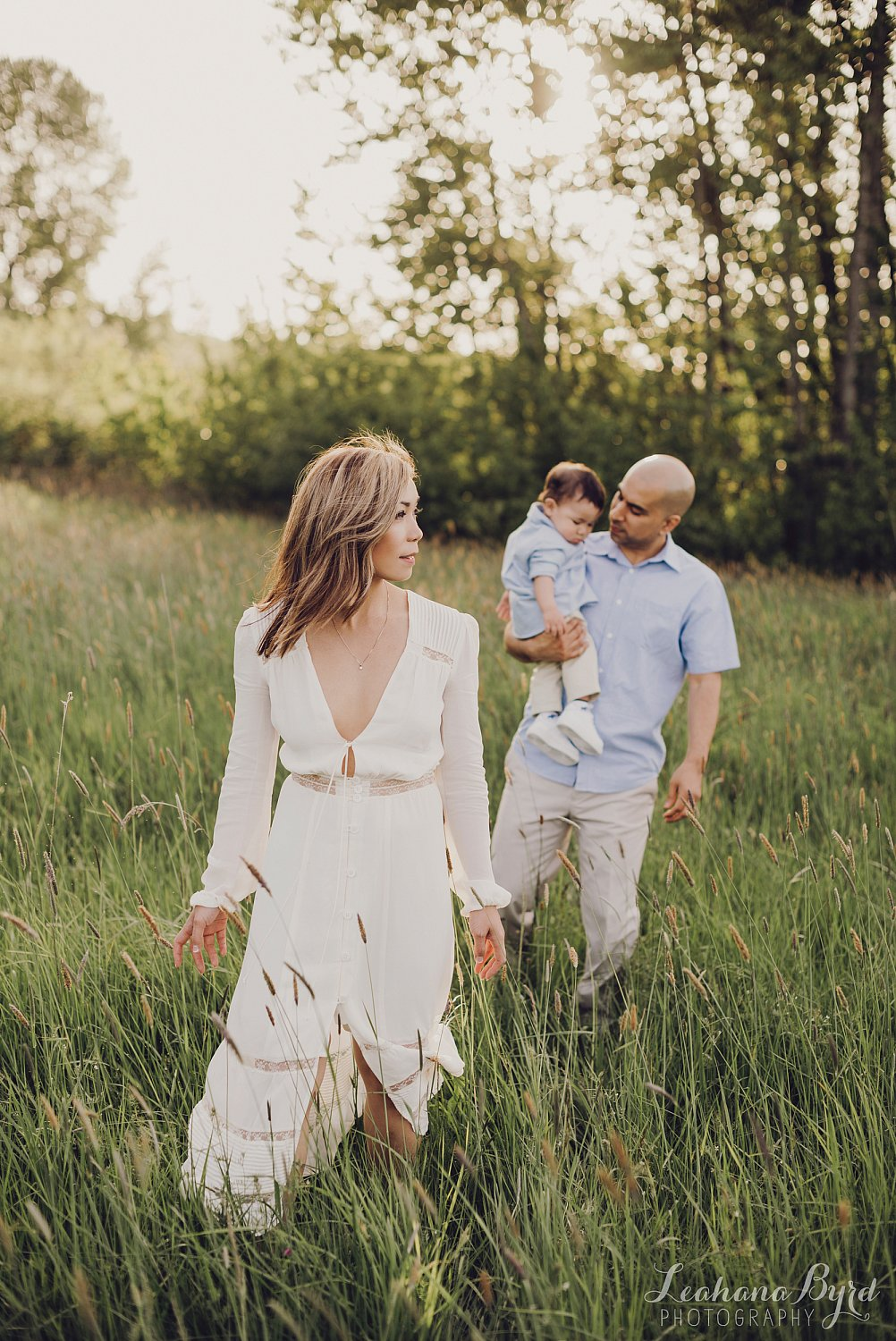 Sauvie Island Sunset Family Portrait Session