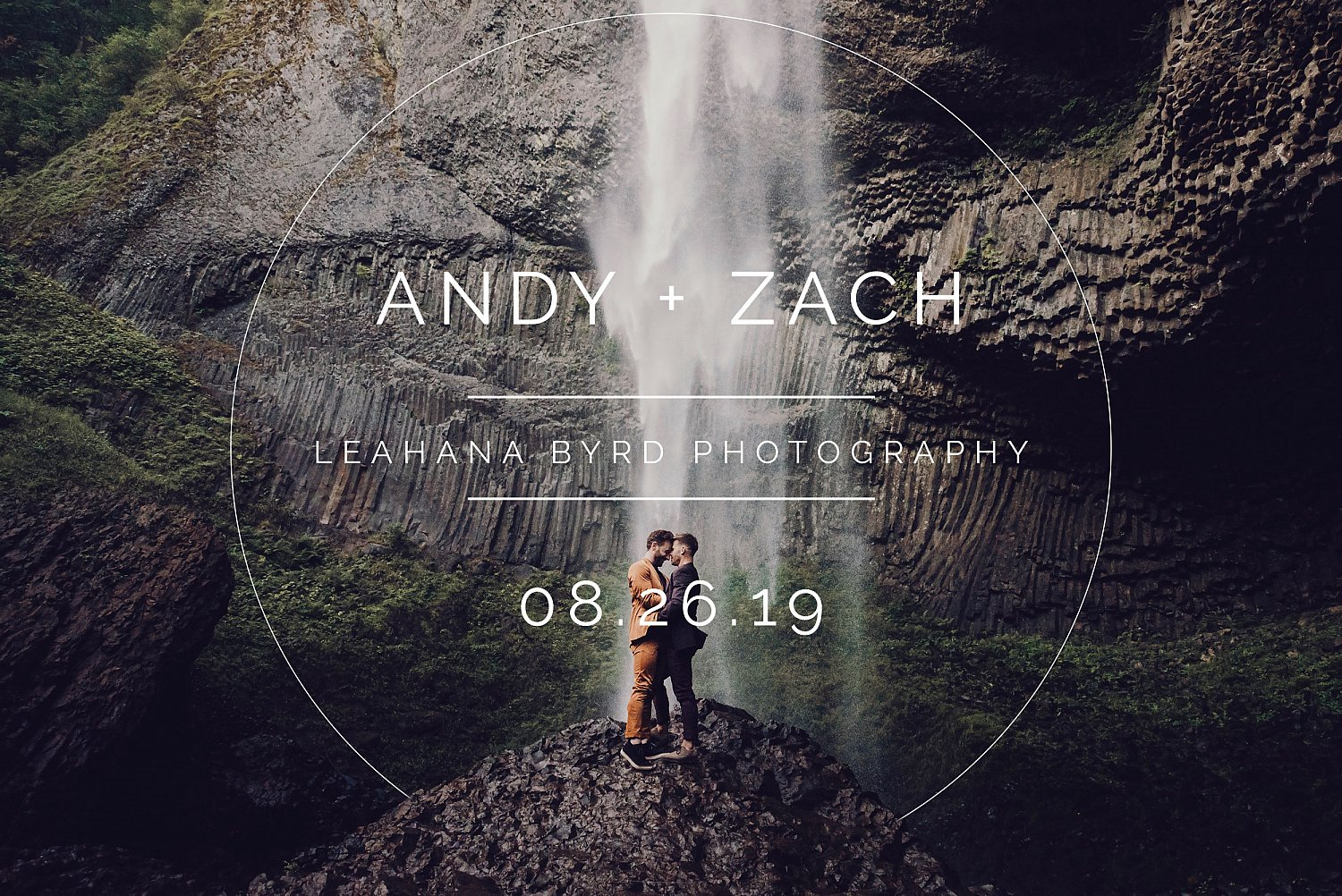 Andy & Zach's Waterfall Elopement